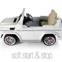 toddler mercedes g55 with soft start and stop