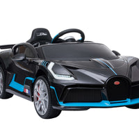 Toddler Bugatti Divo Remote Control Sports Car with Leather Seat