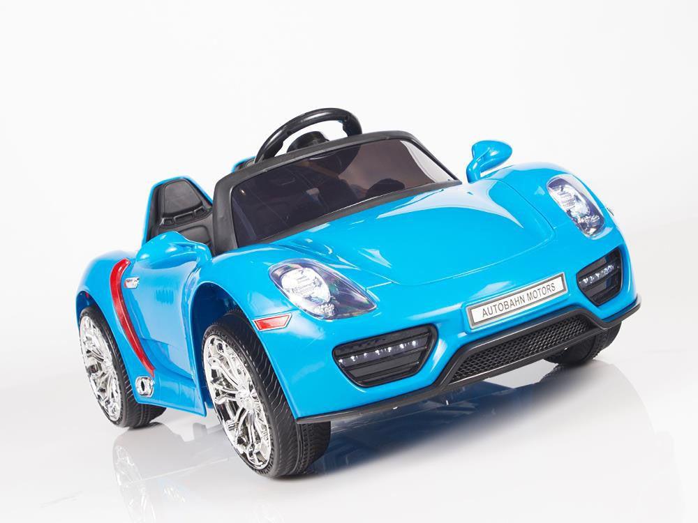 Porsche 918 Style Spyder 12v Remote Control Toddler Ride On Car W