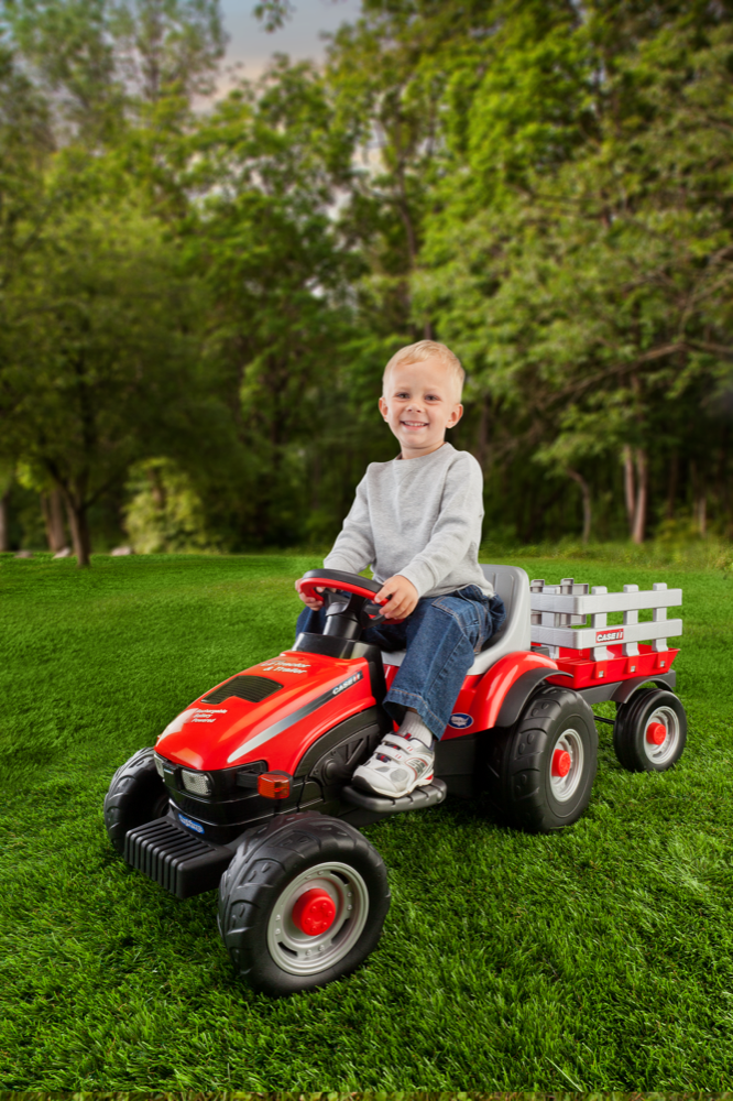 Lil Rider Tractor : Case ih lil ride on tractor trailer car tots remote