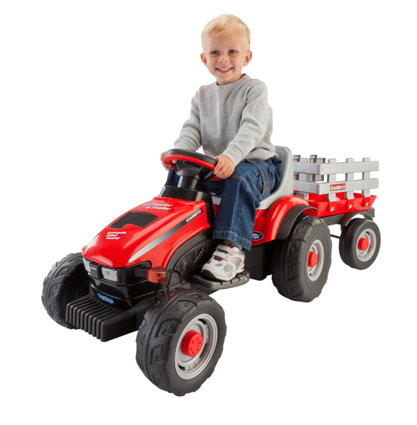 Case Ih Lil Ride On Tractor Amp Trailer Car Tots Remote