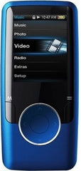 Coby MP3 Player with Video and 4GB Internal Storage in Blue