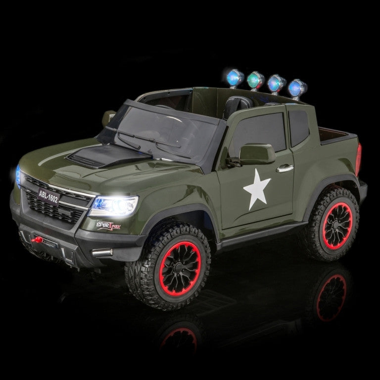 Chevy Colorado Style Toddler Remote Control Ride On Truck with 4 Motor 4WD