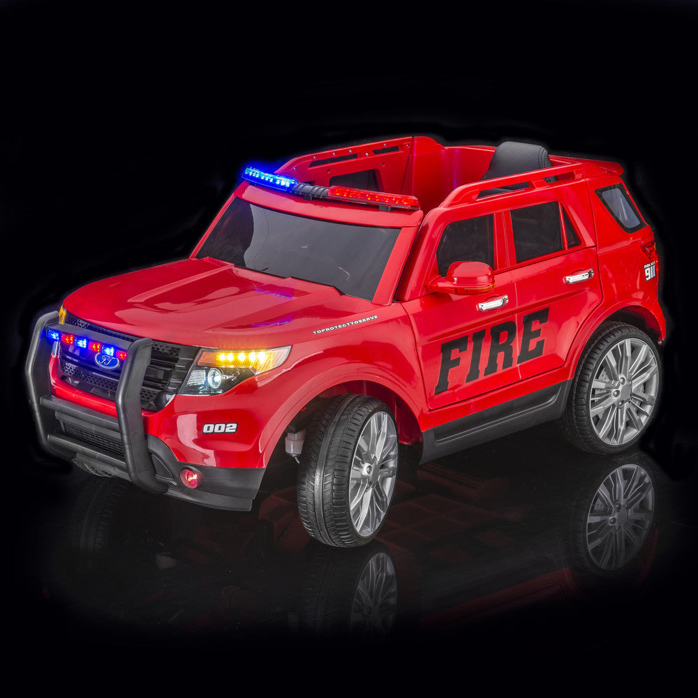 Fire Ranger Remote Control Ride On Car With Doors and Lights