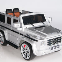 Mercedes-Benz Remote Control Ride On G55 AMG G Wagon W/Rubber Tires and Opening Doors in Silver