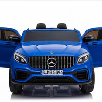 GLC63S Two Seat Remote Control Ride On Car in Blue