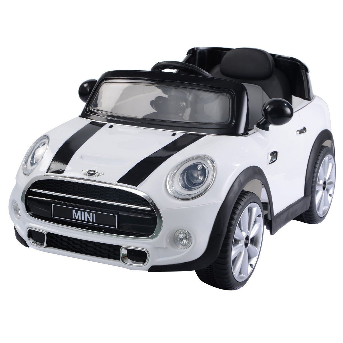 mini cooper remote control ride on car with leather seat car tots remote control ride on cars. Black Bedroom Furniture Sets. Home Design Ideas