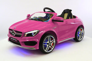 Pink Mercedes CLA 45 12V Toddler Remote Control Ride On Coupe