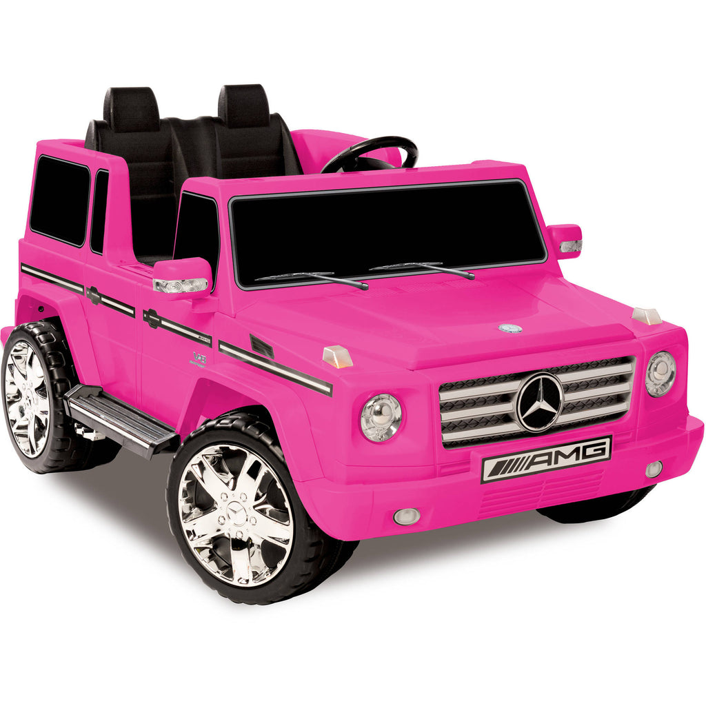 Pink Mercedes Benz G55 Amg Wagon 2 Seat Ride On Suv Car Tots Remote Control Ride On Cars Trucks Suvs And Jeeps