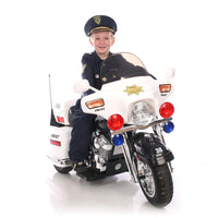 Police Patrol 12V Ride On 3 Wheel Police Motorcycle