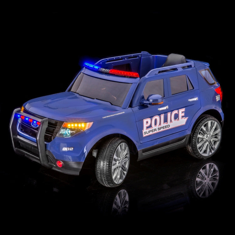 Police Explorer Remote Control Ride On Car With Doors and Lights