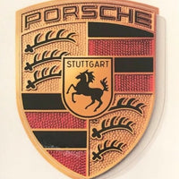 Brand New Porsche Sticker Crest Logo Genuine