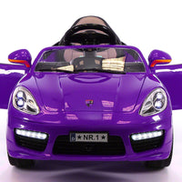 Porsche Roadster Style 12V Remote Control Toddler Ride On Car W/Doors