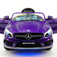 Purple Mercedes CLA 45 12V Toddler Remote Control Ride On Coupe