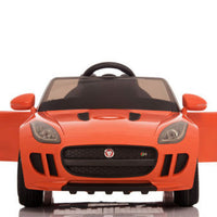Orange Jaguar F-Type Ride On Luxury Sports Car with remote control