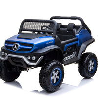 RC Mercedes Toddler Unimog two seater in blue