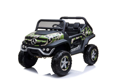 Camouflage Mercedes Toddler Unimog with Leather Seat