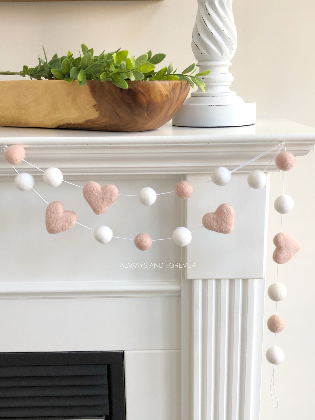Garland - Pink Hearts/white/pink