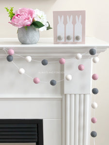 Garland - White/Light Pink/Dark Grey