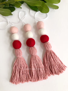 Felt Ball Diffuser - Pink/White/Red