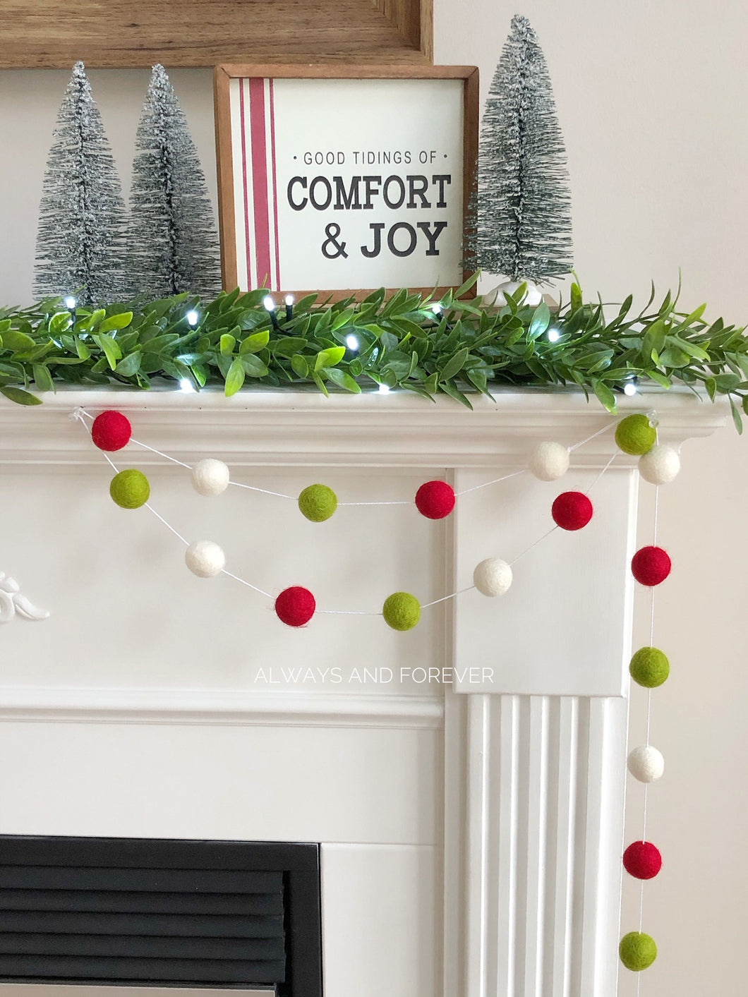Holiday Garland - Red/White/Lime