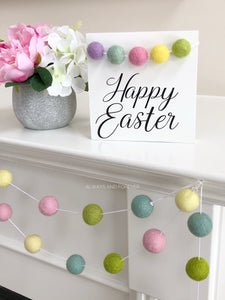 Wood Sign - Happy Easter