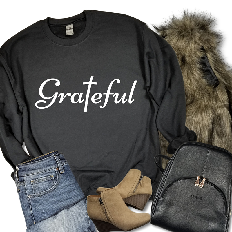 Grateful Long Sleeve Sweat Shirt