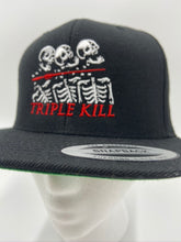 Load image into Gallery viewer, Triple Kill Logo 6-Panel Snapback