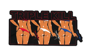 Triple Kill SUMMER Bumper Sticker