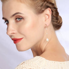 "Load image into Gallery viewer, ""Fay"" Floral Asymmetric Cultured Pearl Earrings"