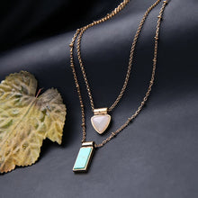 "Load image into Gallery viewer, ""Daphne"" Turquoise 3 & 1Versatile Layered Necklace"