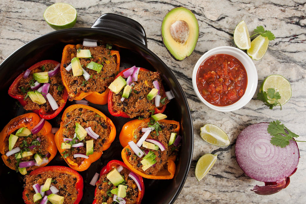 Spanish Quinoa Stuffed Peppers