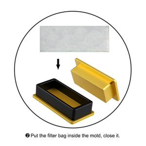 2x4 Inch Rectanglular Rosin Pre Press Mold Magnetic Closure with 5 Press Bags