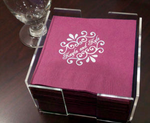 Clear Acrylic Luncheon Napkin Holder