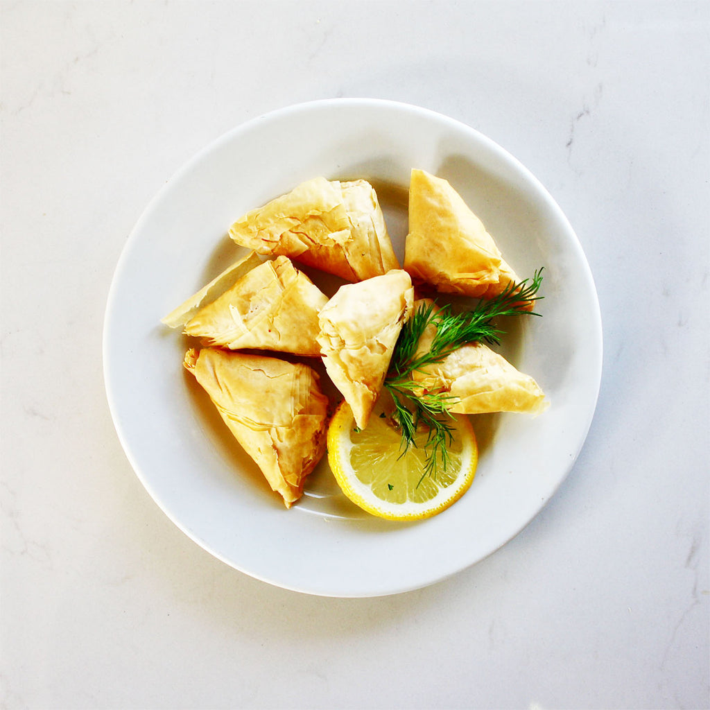 Crab & Spinach Triangles - Frozen