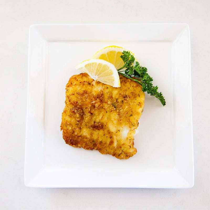 Cod with Potato and Cheese Crust