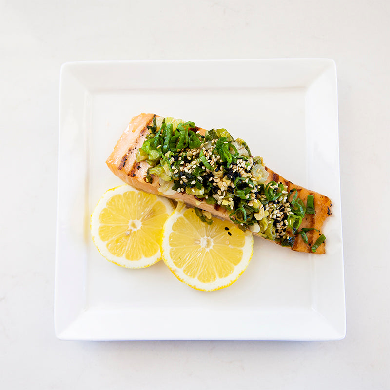 Grilled Salmon with Green Onion & Ginger