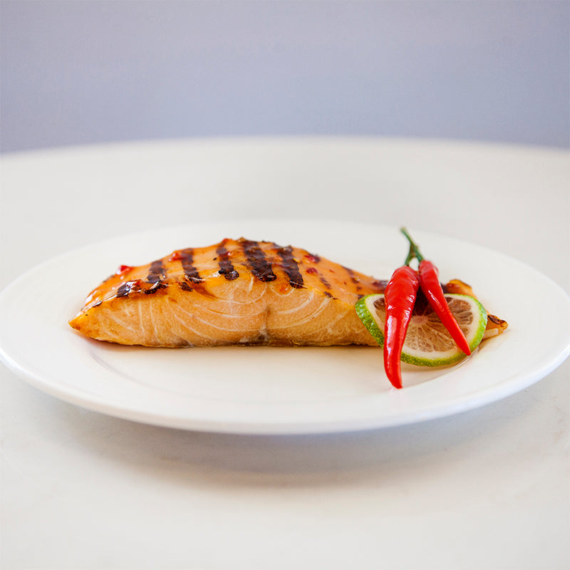 Salmon with Sweet Chili Sauce