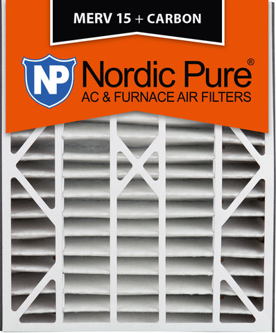 20x25x5 Air Bear Replacement MERV 15 Plus Carbon Qty 4 - Nordic Pure