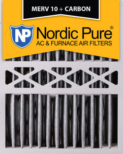 16x20x5 Honeywell Replacement Pleated MERV 10 Plus Carbon Qty 2 - Nordic Pure