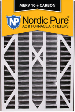 16x25x3 Air Bear Cub Replacement MERV 10 Pleated Plus Carbon Qty 7 - Nordic Pure