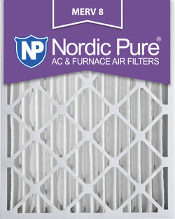 16x20x4 Pleated MERV 8 AC Furnace Filters Qty 2 - Nordic Pure