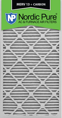 14x30x1 MERV 13 Plus Carbon AC Furnace Filters Qty 3 - Nordic Pure