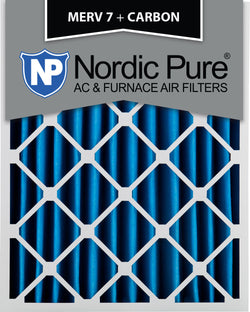 16x20x4 MERV 7 Plus Carbon AC Furnace Filters Qty 2 - Nordic Pure