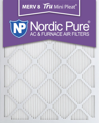 10x20x1 Tru Mini Pleat Merv 8 AC Furnace Air Filters Qty 12 - Nordic Pure