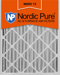 12x24x4 Pleated MERV 15 AC Furnace Filters Qty 2 - Nordic Pure