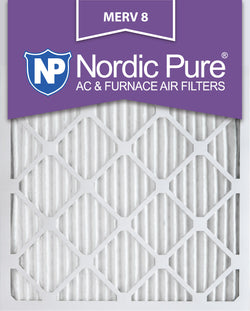 8x20x1 Pleated MERV 8 AC Furnace Filters Qty  6 - Nordic Pure