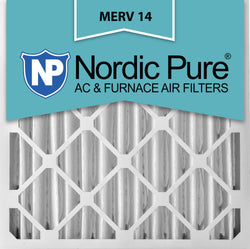 16x20x4 Pleated MERV 14 AC Furnace Filters Qty 2 - Nordic Pure
