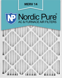 12x20x1 Pleated MERV 14 AC Furnace Filters Qty 12 - Nordic Pure