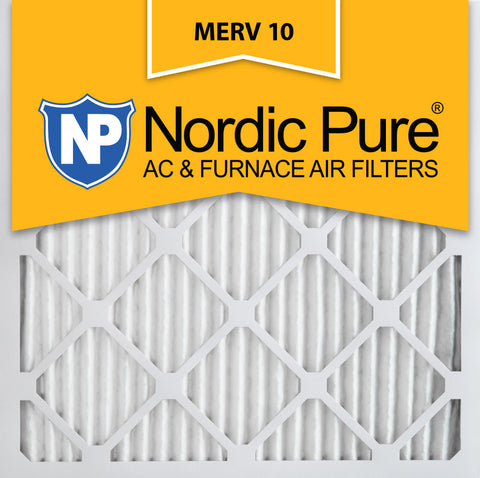 10x10x1 Pleated MERV 10 AC Furnace Filters Qty 6 - Nordic Pure